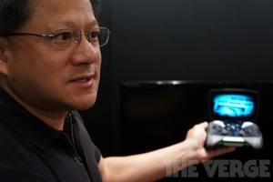 jen-hsun huang with nvidia shield (verge stock)