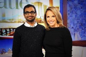 Katie Couric and Aziz Ansari