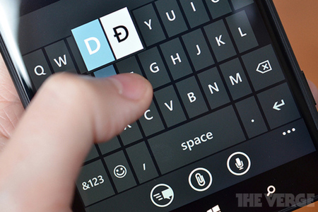 Windows Phone keyboard