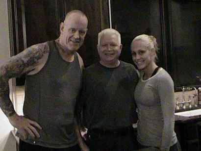 Undertaker's bald head. As much as people talked about the Undertaker