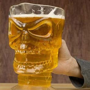 Skull-beer-pitcher