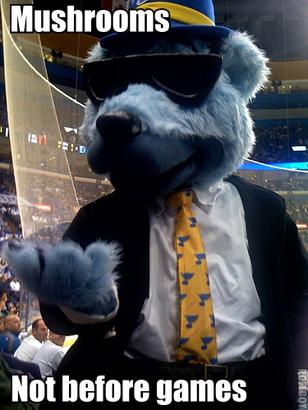 Blues mascot confusion