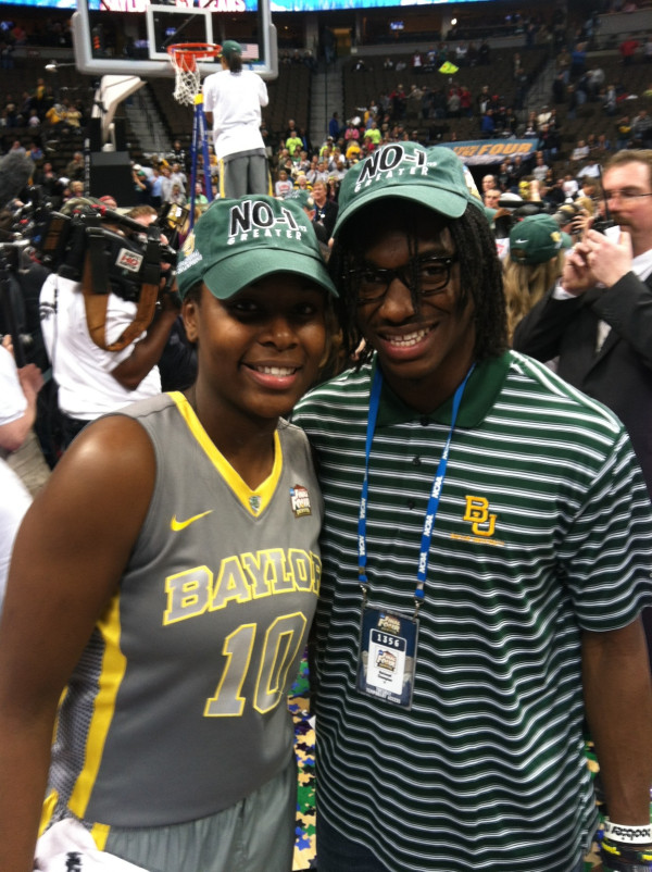 RG3 Dances & Cuts Down Nets At Baylor's WNCAA Championship