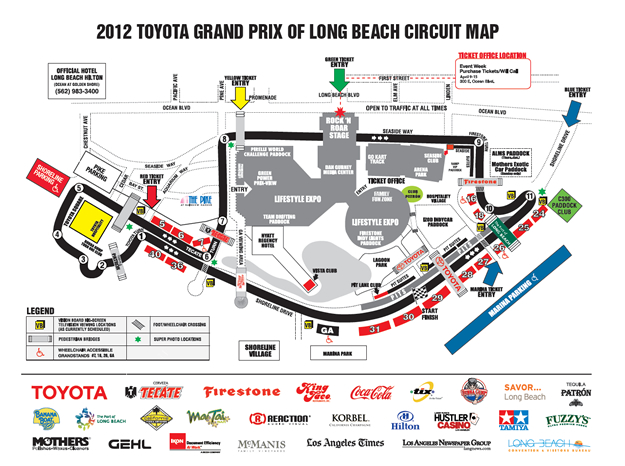 Long Beach Grand Prix Route Map