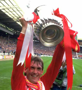 dalglish celebrating