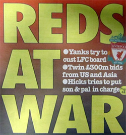 liverpool headline newspaper hicks gillett epic swindle