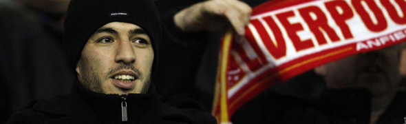 suarez watching stands anfield