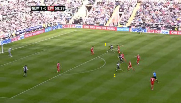 spearing newcastle cisse goal