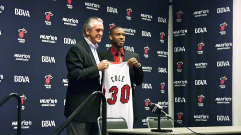 Norris_Cole_Pat_Riley_Press_Conference