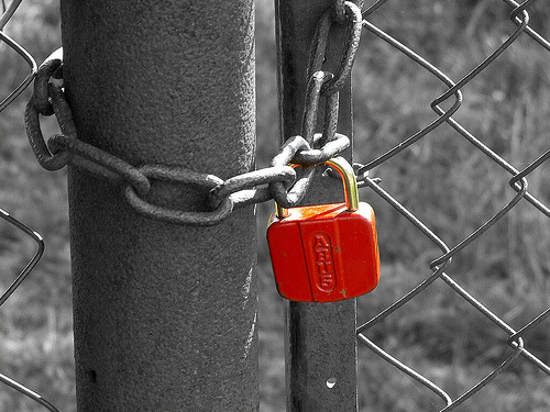 red-padlock-fence