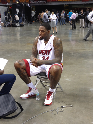 Eddy Curry Media Day Miami Heat