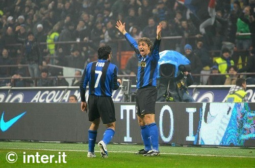 Crespo celebrates his first goal of the season