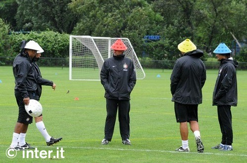 Is that Devo? Nope, it is Mou and his training staff!