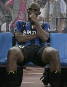 Eto\'o clearly does not like to lose.