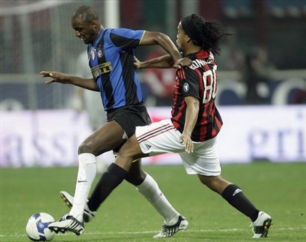 I think we will see a lot of Vieira v Ronaldinho at the derby.