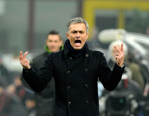 Mourinho at the derby