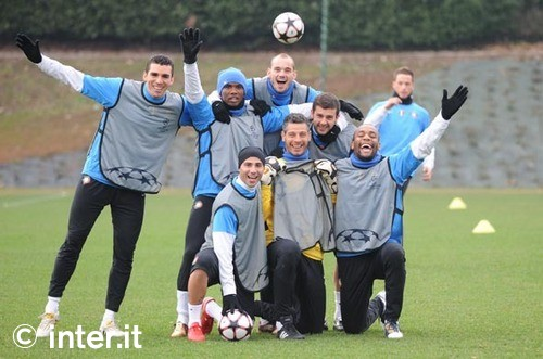 Inter squad before the chelsea match