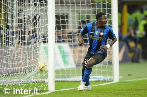 Muntari scores against Juve