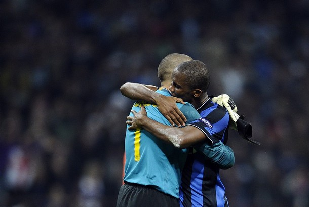 Eto'o and Valdes