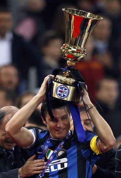 Javier Zanetti - my personal football idol - lifts the Coppa Italia
