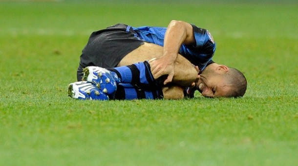 Samuel is injured against Brescia