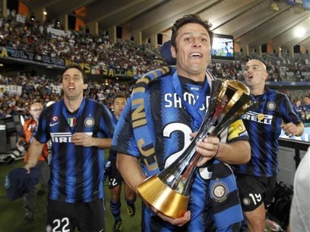 Samuel, there on Zanetti's chest
