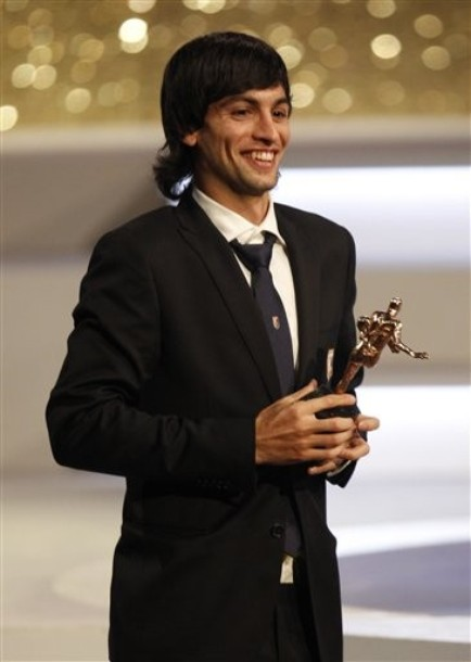 Pastore at the Italy Soccer Awards