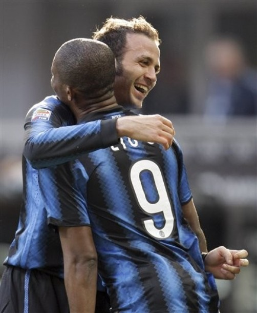 Pazzini loves Eto'o