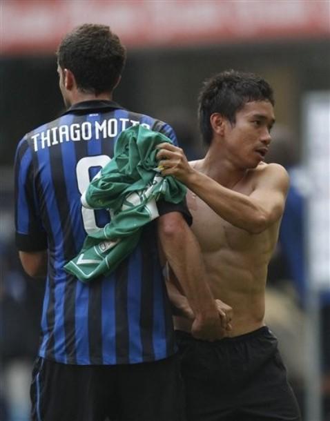 Yuto Nagatomo shirtless. not bad