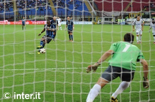 Etoo penalty against udinese
