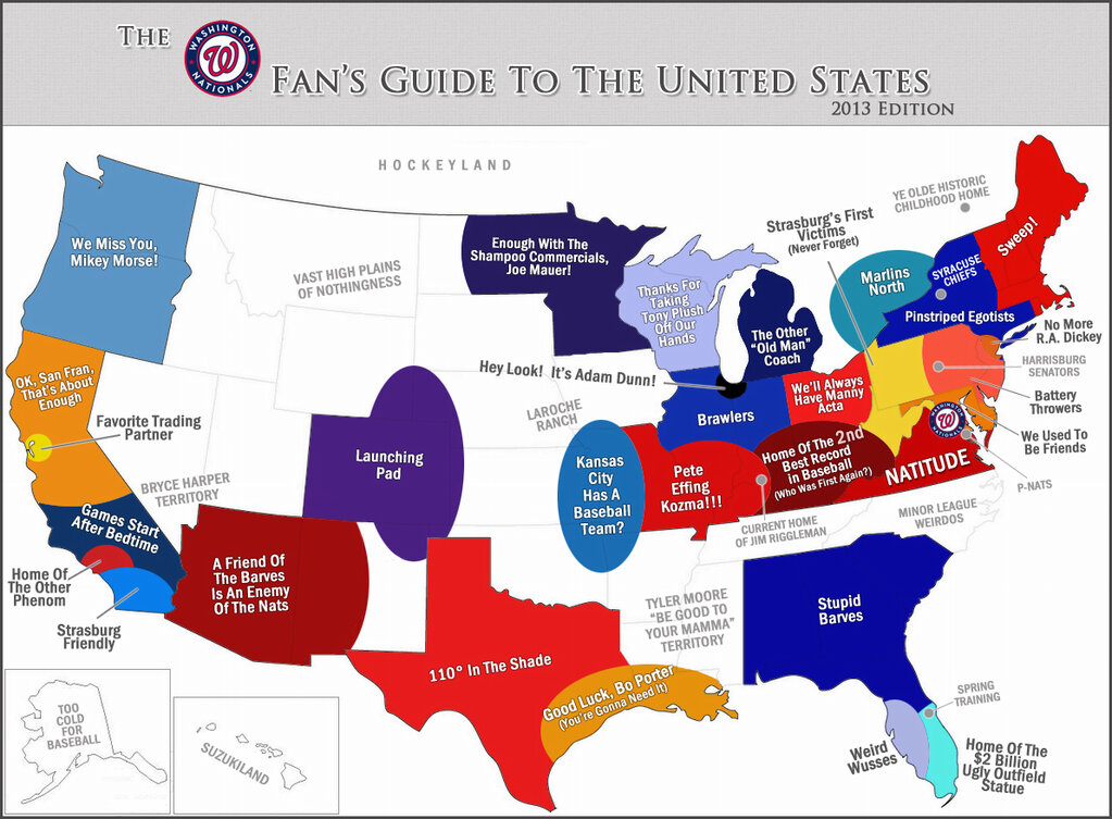 How Long Does It Take To Be A True Fan SBNationcom - Mlb us map