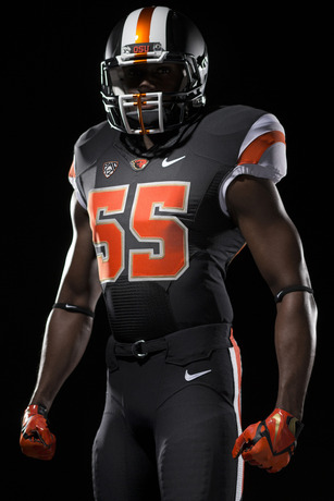 In addition to the new logo and uniforms, bronze is now an OSU accent