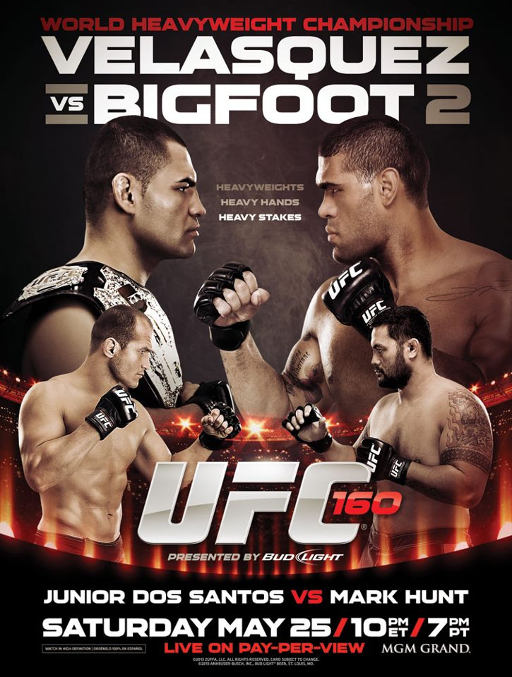 Ufc 168 Fight Poster Pic: Junior dos Santos...
