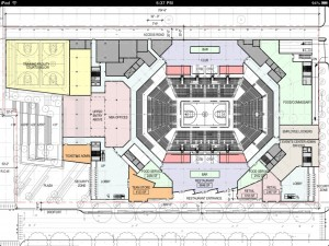 Arena design, looking down. From January 22, 2013 design review 3