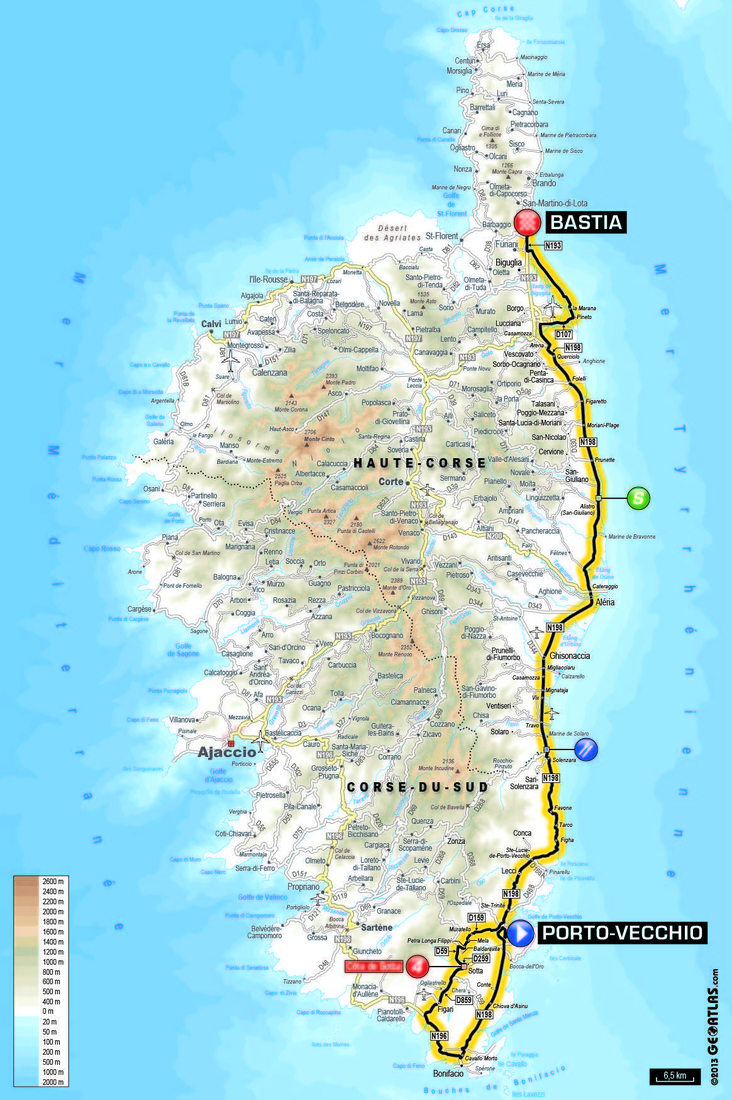 Tour De France 2013 Route And Map Stage 1 To Begin In Corsica