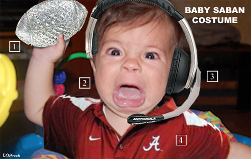 crystal football included even if your baby did not win its conference - Infant Football Halloween Costume
