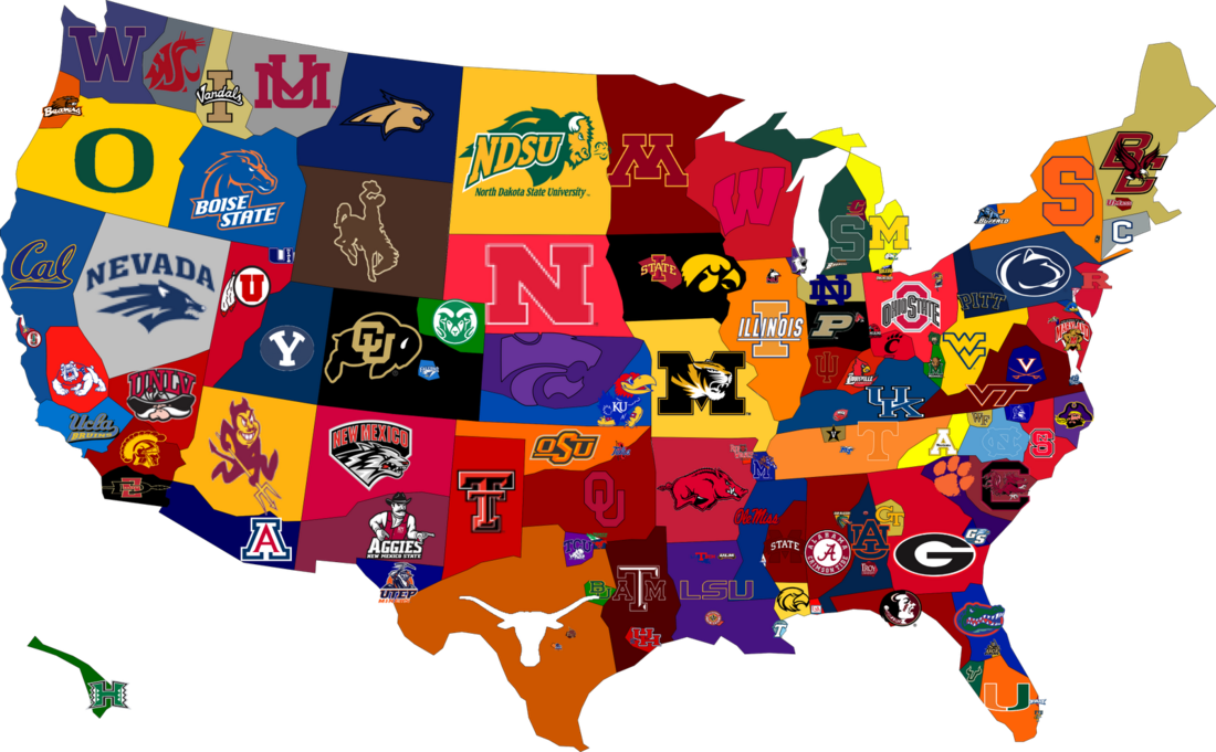 Boston College In A Pro Sports Town Part II What Are Our Goals - Map of us pro sports teams