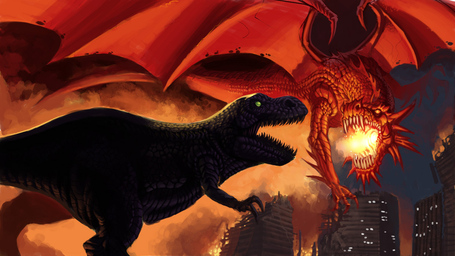 Dragon_vs_dinosaur_by_dhutchison_medium
