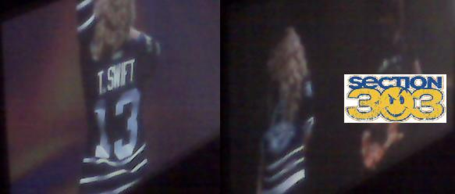 Taylor Swift in new Nashville Predators 3rd jersey