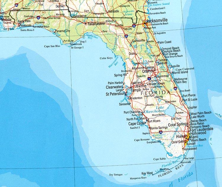 Где находиться полуостров флорида