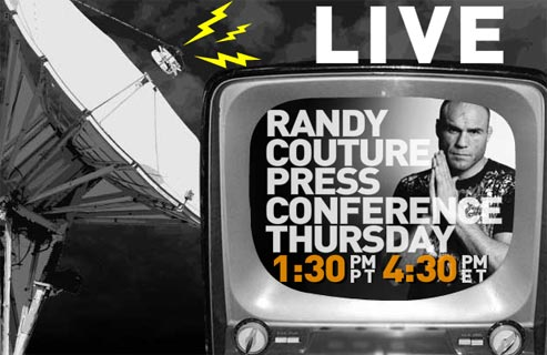 Randy Couture press conference today