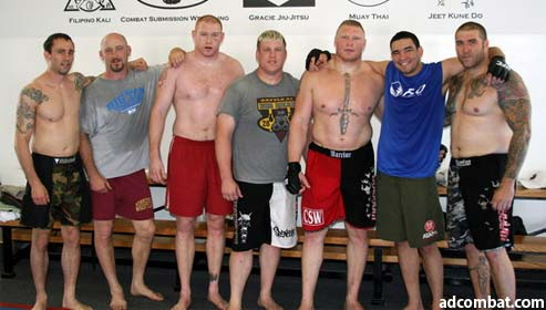 Brock Lesnar Jiu-Jitsu training