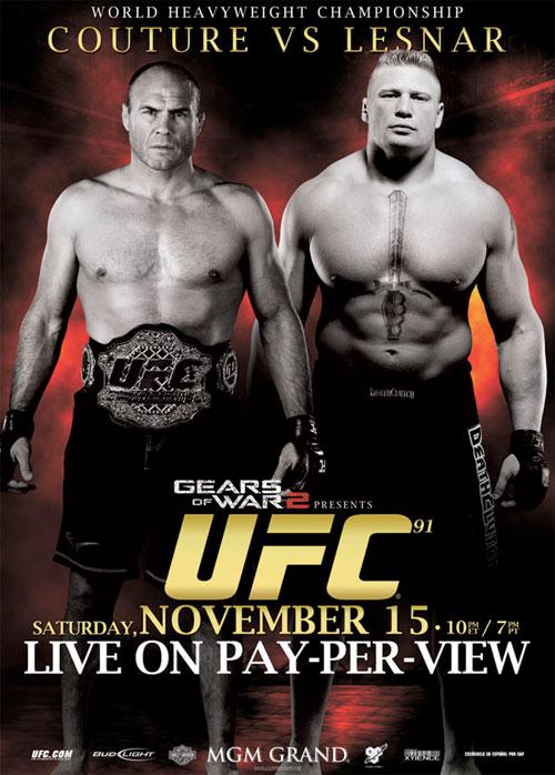 UFC 91 poster