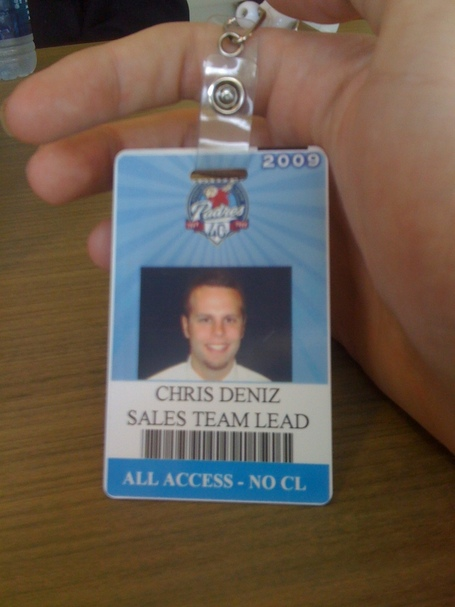 Chris' badge
