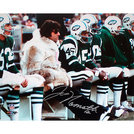 Joe Namath sporting a fur