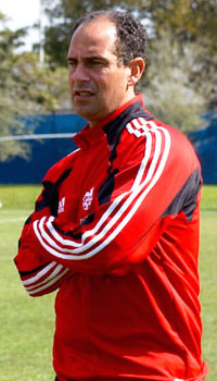 Canadian technical director Stephen Hart during the 2009 Gold Cup. Image credit: Canadian Soccer Association