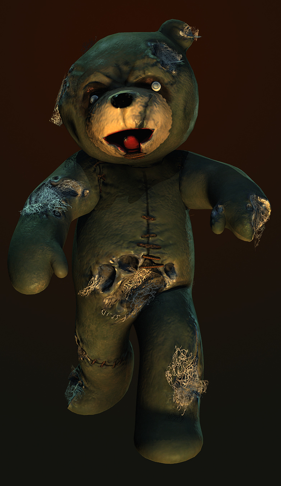 Zombie bear tattoo