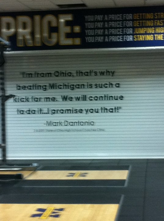 Brady Hoke redecorates the Michigan weight room.