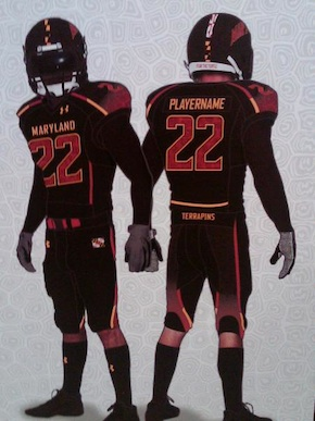 Maryland Football Uniforms