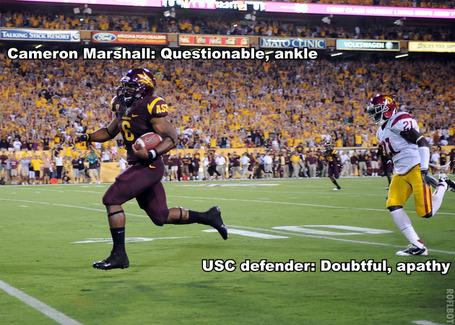 Cameron Marshall rushing TD